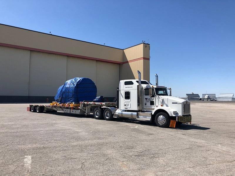 Aircraft engine trucking